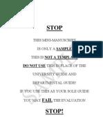 Sample Manuscript