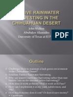 Rainwater Harvesting in the Chihuahuan Desert