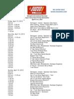 2012 - Super Chevy Show Schedule