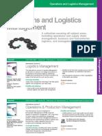 Operations Logistics Management