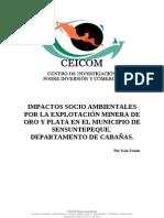 Impactos Socio-Ambientales por la Explotación Minera de oro y plata en el Municipio de Sensuntepe