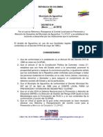 Decreto Reforma y Reorganizacion Del Clopad Aguachica