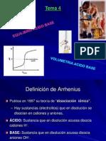 Q.A. - Tema 4 - Acido Base