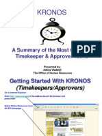 KRONOS Timekeeper & Approver Training Presentation 2009