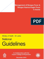 Guidelines on Management of DF and DHF in Adults