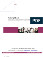 Understanding Training Needs