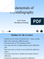 SWEET, Fundamentals of Crystallography