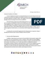 Descripción de Departamentos ASEMECh 2012. 1 de Abril del 2012