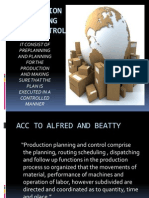 Production Planning and Control- Unit III