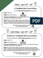 KIC Earth Week Flyer