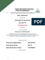 Informe Final Seminario de Ducacion Seccion b