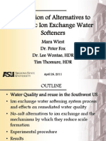 Arizona State University Water Soft Ner Study