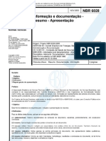 ABNT NBR 6028 (Nov 2003) - Resumos