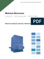 WEG Motores Sincronos Com Escovas Horizontais 11568847 Manual Portugues Br