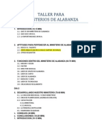 Taller Para Ministerios de Alabanza (Temario)