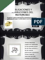 Obligaciones y Atribuciones Del Matrimonio