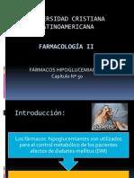 Insulinas -Farmacología II