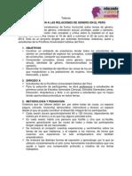 Syllabus EDUCANDO EN GENERO Y SEXUALIDAD