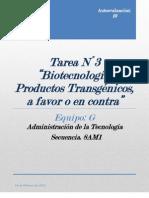 TAREA 3. Biotecnología Y transgenicos (1)