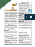 Thermochemistry Handout