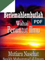 Nasehat Indah Syaikh Imam