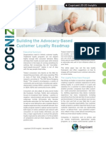 Building the Advocacy-Based Customer Loyalty Roadmap