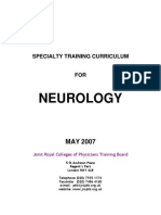 Neurology Specialty Training Curriculum May 2007