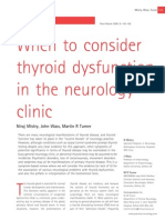 Thyroid and Neurology
