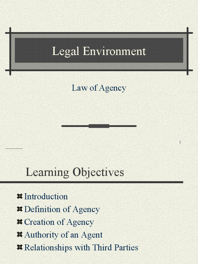 contract of agency | law of agency | business