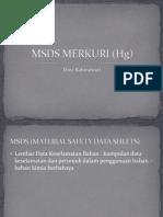 Msds Merkuri (Hg)