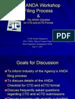The ANDA Workshop Filing Process_May 2007