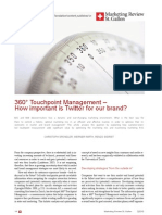 2010 Marketing Review 360 Degree Touchpoint Management