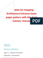 Entrance Exam Paper Pattern NATA, AIEEE & CET
