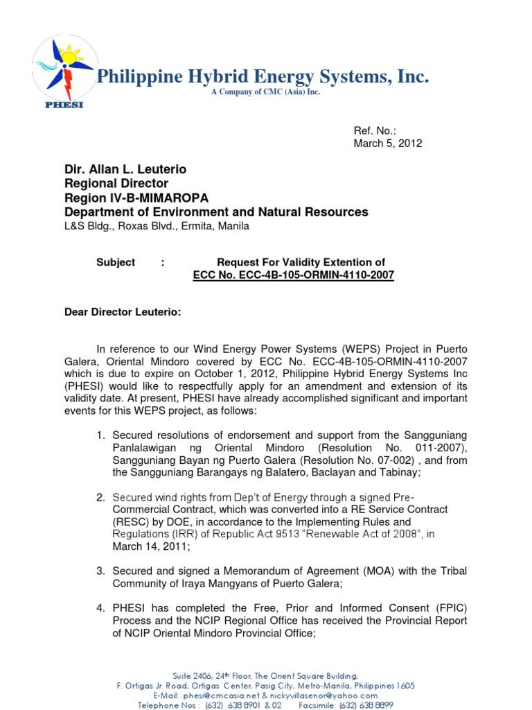 ecc amendment letter 1 politics government