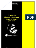 13 anys de Club de Lectura de Novel·la Negra (2000-2012)