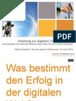 Anleitung zur digitalen Unzufriedenheit WÖRTHERSEE 2012