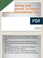 Training and Development in Power Pack International Ltd
