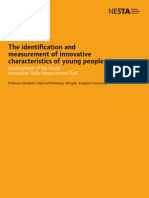 The Identifcation and Measurement of Innovative Characteristics of Young People