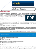 How to Learn Calculus