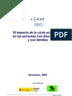 El impacto de la crisis económica Española en las personas con discapacidad y sus familias