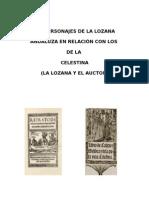 Los personajes de la lozana andaluza en relación con los de la celestina