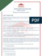 MM Du REAA Reglement Particulier