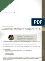 Marketing Plan- Construction Machinery