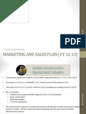 Marketing Plan- Construction Machinery   Loader (Equipment
