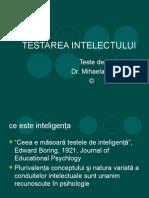 Curs VI a Testarea Intelectului