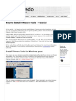 How to Install VMware Tools - Tutorial