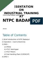 NTPC Badarpur Training
