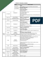 Schedule in Manila