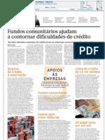 Diário Económico - Fundos comunitários ajudam a contornar dificuldades de crédito