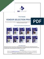 Vendor Selection Procedure